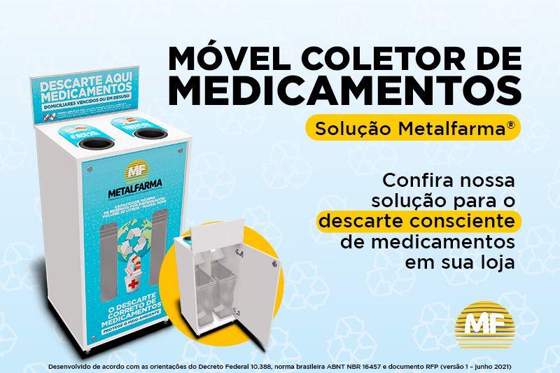 Conheça o Móvel Coletor de Medicamentos criado pela Metalfarma
