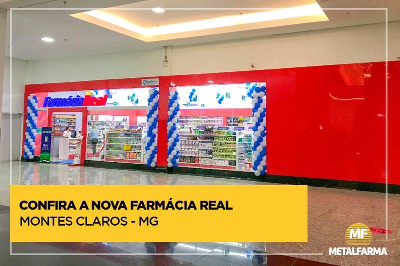 Farmácia Real: nova loja com conceito Metalfarma