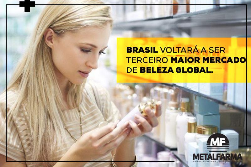O Brasil alcançará a terceira posição de maior mercado de beleza global em 2018