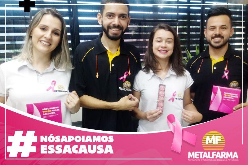 OUTUBRO ROSA: Nós apoiamos esta causa!