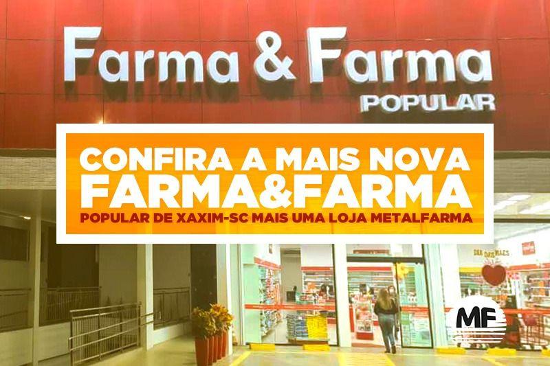 Padronizada e muito funcional: a nova Farma&Farma Popular de SC é um sucesso!