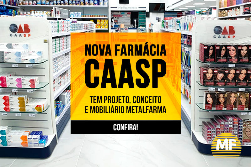 Projeto de farmácia otimiza exposição: mais produtos em menor área