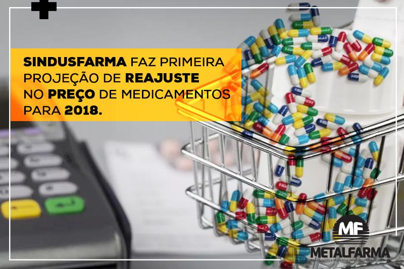 SINDUSFARMA faz primeira projeção de reajuste no preço de medicamentos para 2018